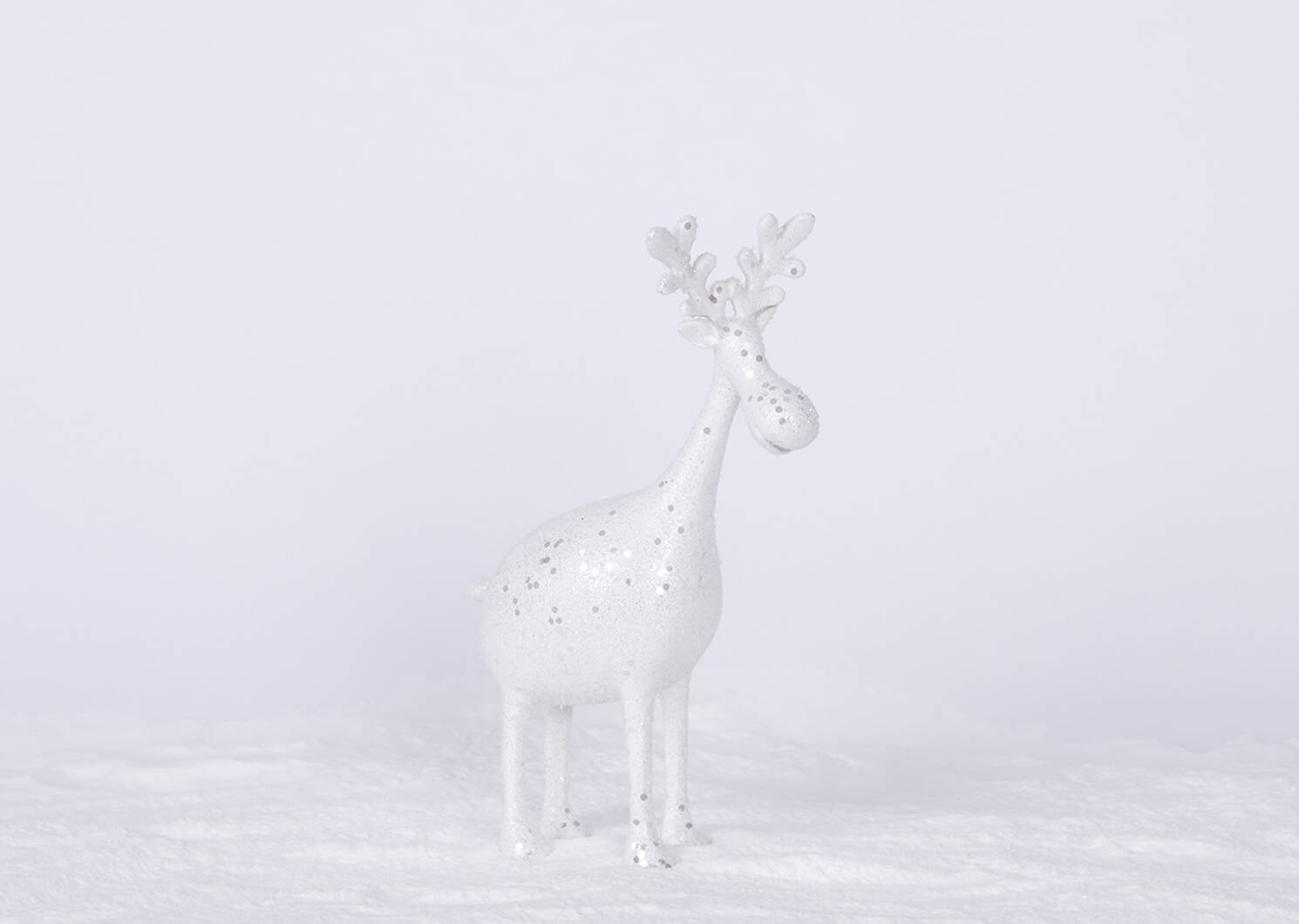Dalya Deer Décor -White