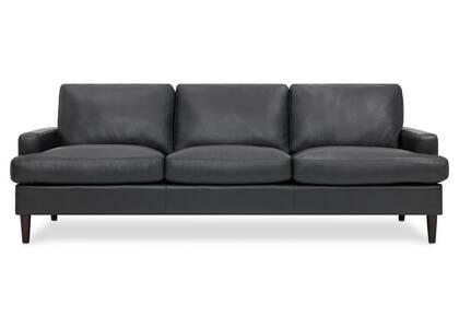 Savoy Leather Sofa -Jett Anthracite