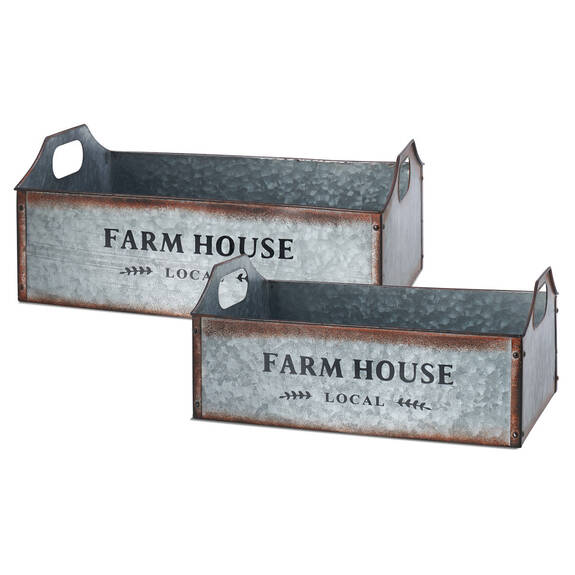 Farmhouse Metal Crates