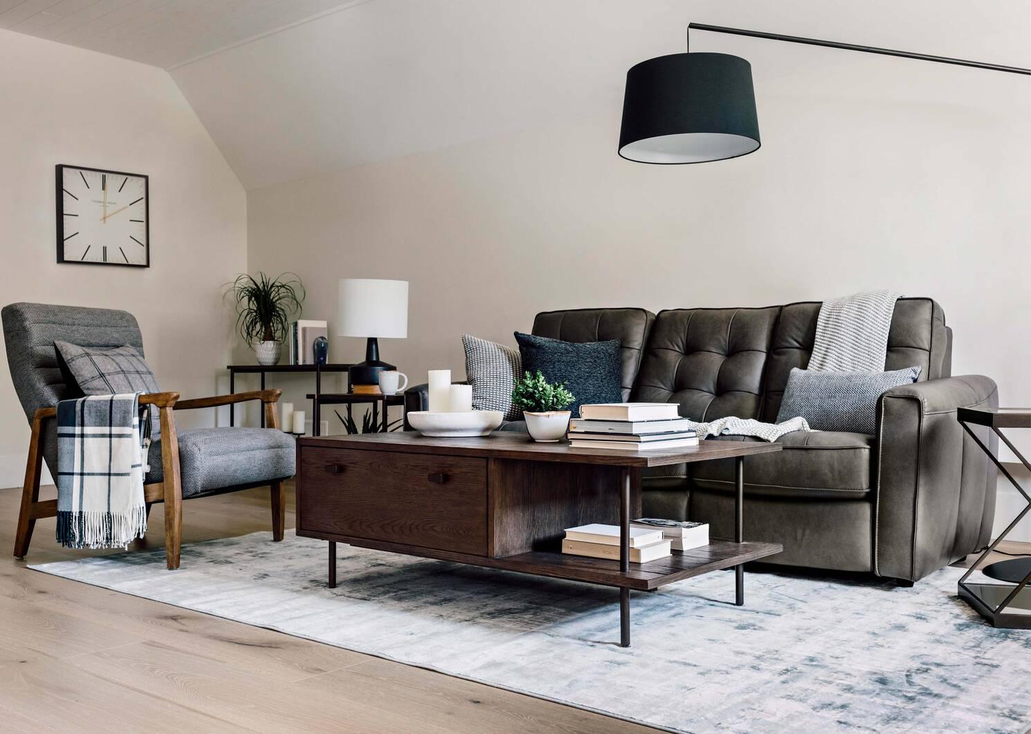 Canapé inc. en cuir Payton -Ashby pierre