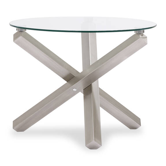 Maverick Side table -Brushed Steel