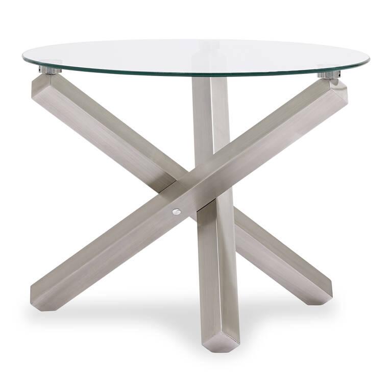 Maverick Side table -Brushed Steel