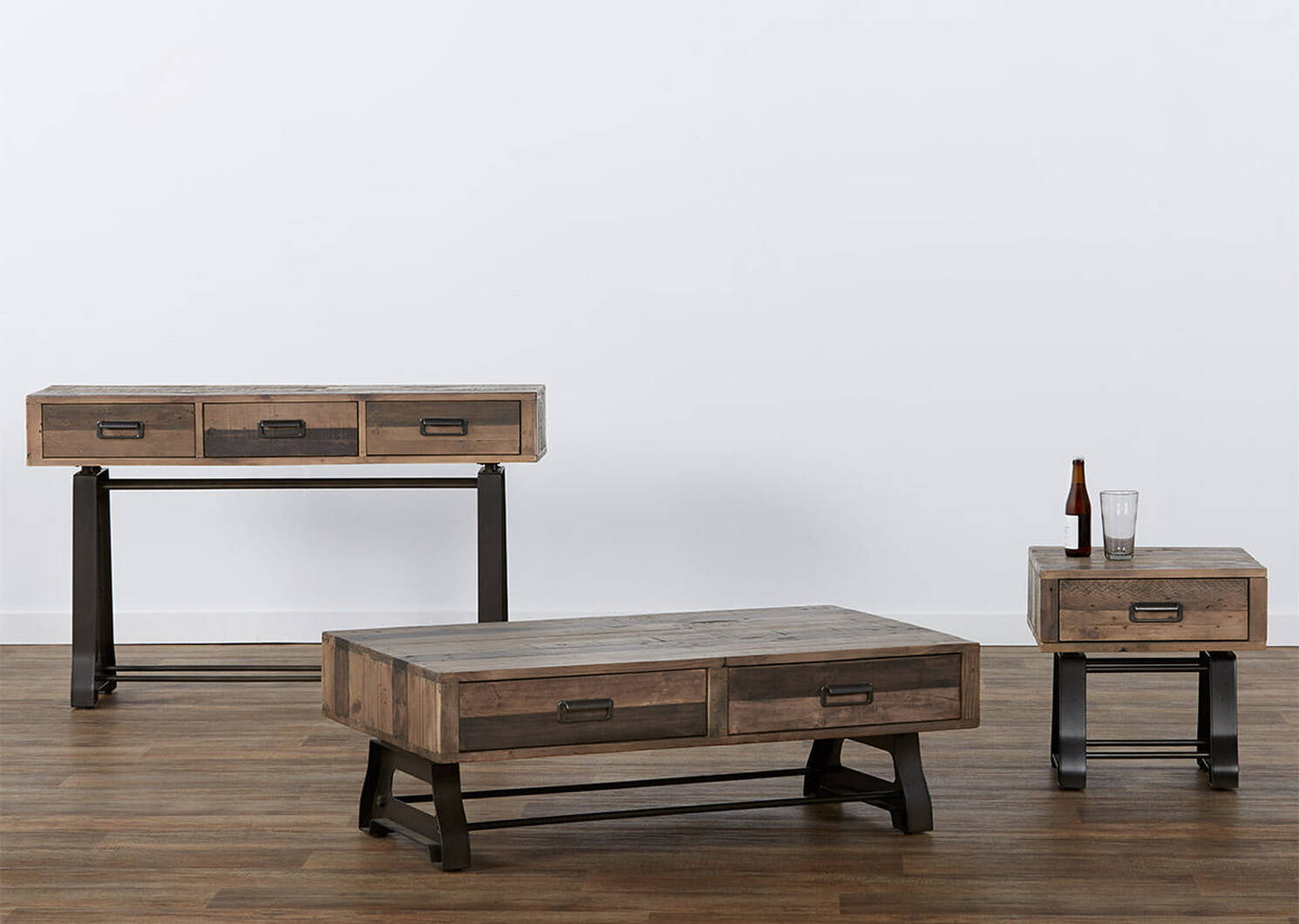 Distillery Console Table -Craft Pine