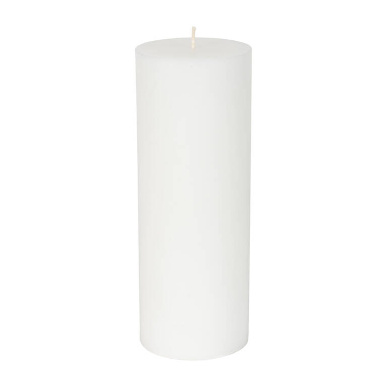 Bougie non-parfumée Cassa 3x8 blanche