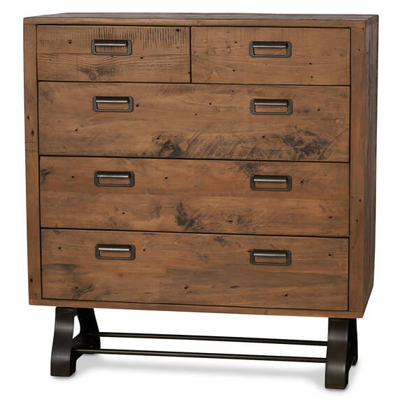 Stapleton 5 Drawers Chest -Whiskey Brown
