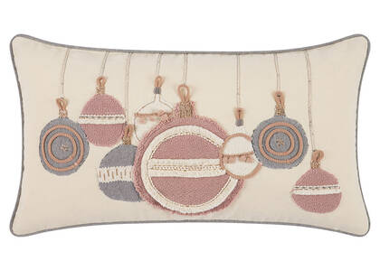 Bright Baubles Toss 12x22 Pink/Grey