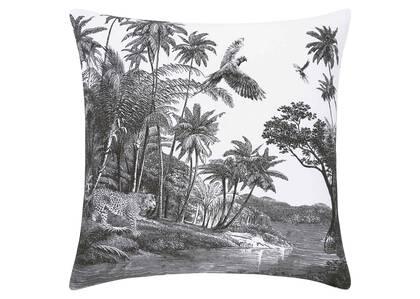 Jungle Floor Toss 20x20 Black/White