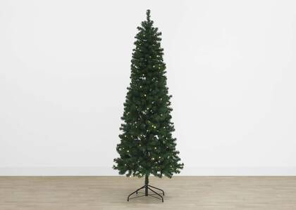 Claus Tree 7.5ft Slim Pre-lit LED Gre