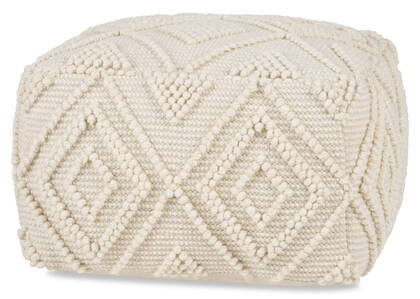 Pouf Olympia ivoire