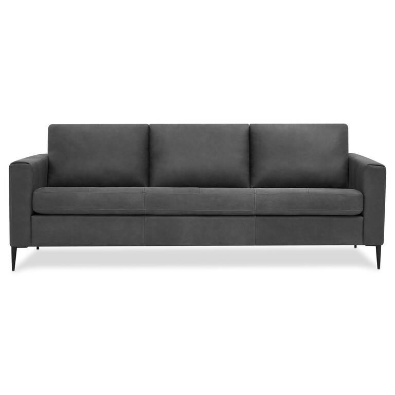 Lucca Leather Sofa -Attica Slate