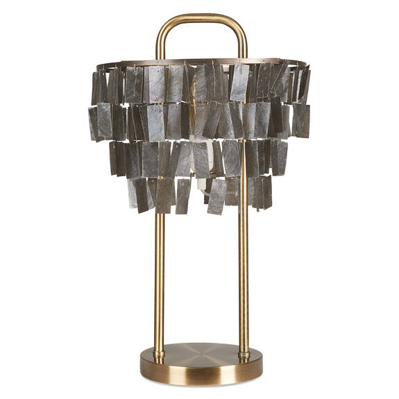 Amabel Capiz Table Lamp Brass