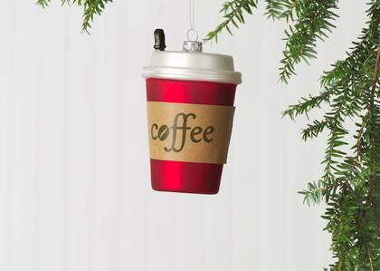 Festive Coffee ToGo Orn