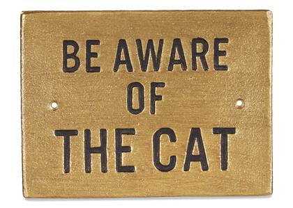 The Cat Wall Sign