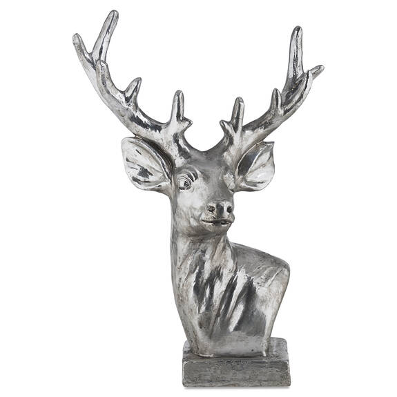 Diego Deer Head Decor Silver