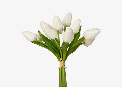 Bouquet de tulipes Berdine blanches
