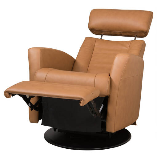 Belvedere Leather Recliner -Tre Tan