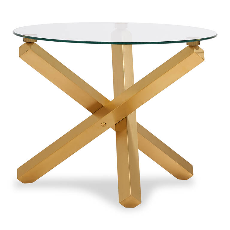 Maverick Side Table -Matte Brass