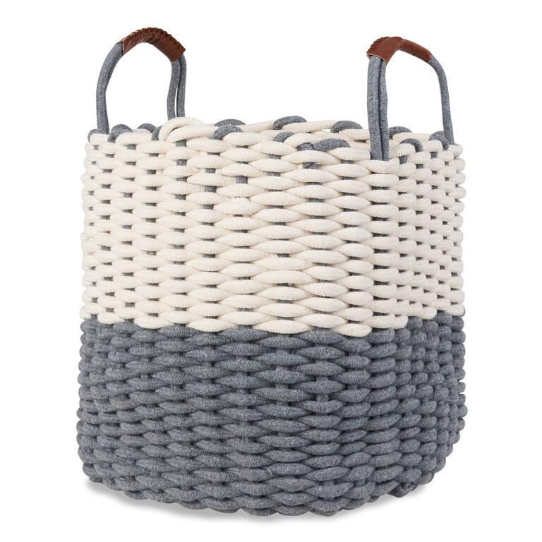 Corde Laundry Basket Natural/Grey