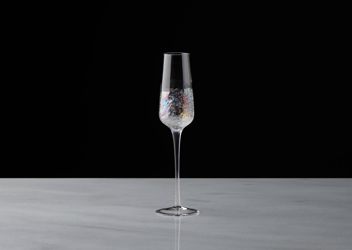 Flûte à champagne Bliss iridescent