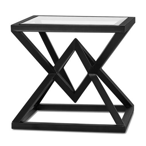 Pyramid Side Table -Glass