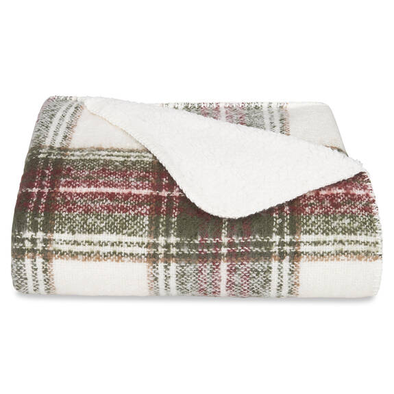 Becca Sherpa Throw Multi Plaid