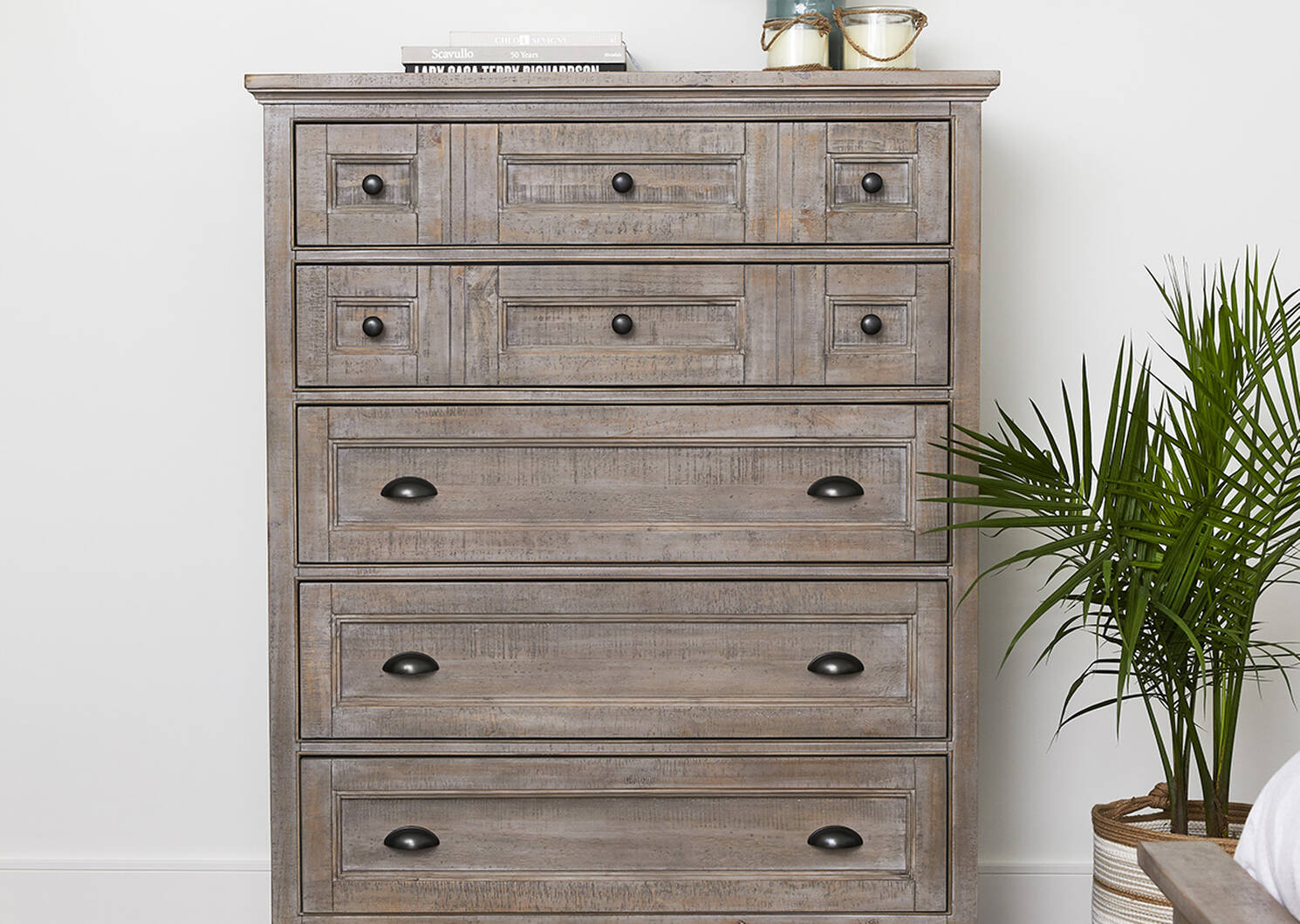 Parker 5 Drawer Chest -Heron Grey