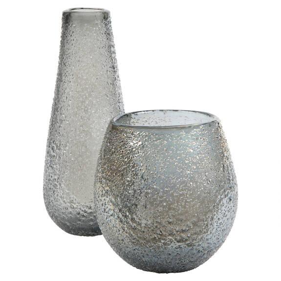 Tayla Vases - Silver