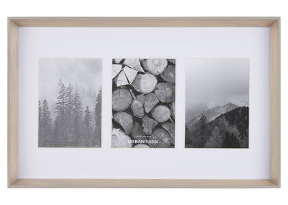 Kyson Wall Frame 3-5x7 Nat/Grey