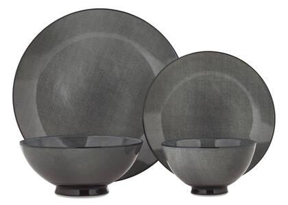 Service vaisselle Etching 16 pcs gris