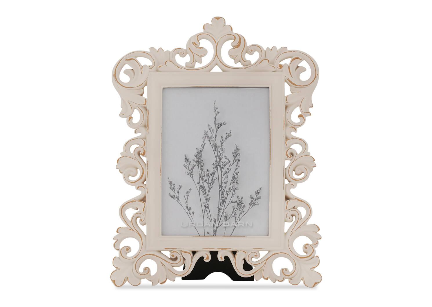 Cadre vert. Lillianna 5x7 blanc antique