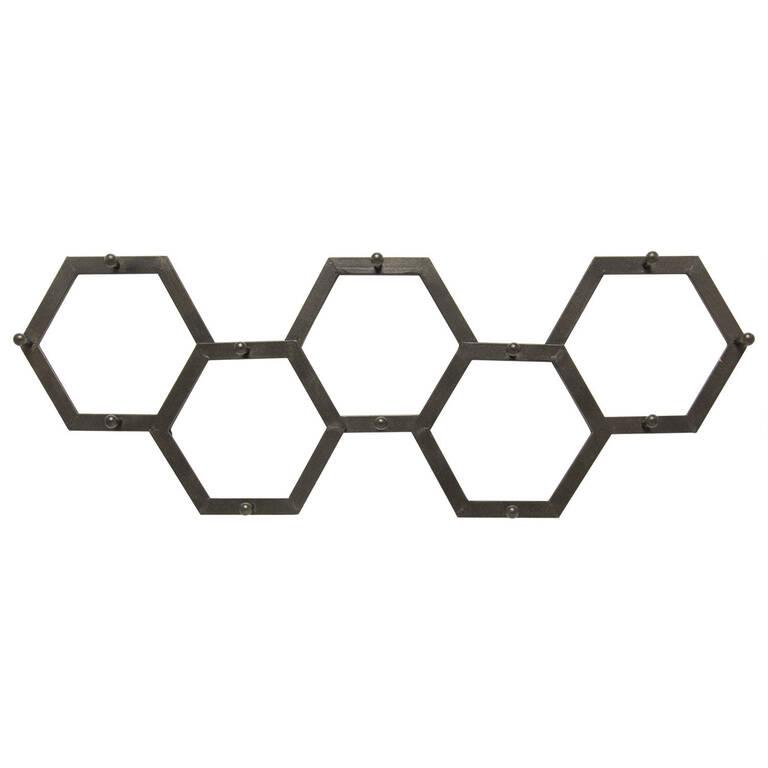 Hexa Wall Hook Black