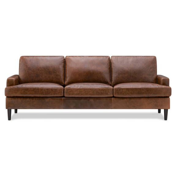 Savoy Leather Sofa -Jasper Walnut