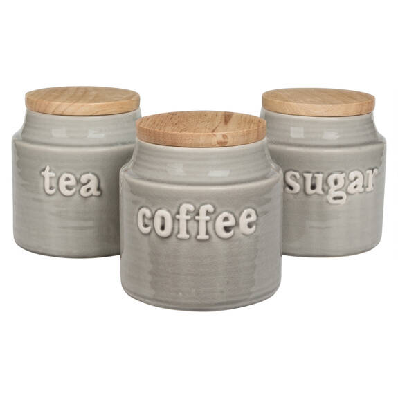 Lilian Canisters - Grey