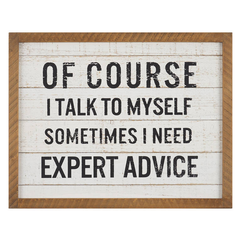 Expert Advice Plaque