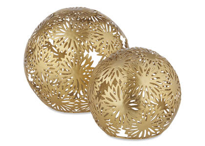 Zinnia Ball Décor Brass