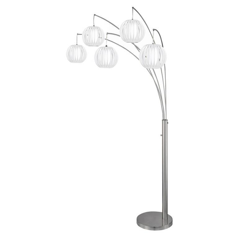 Lantern 5 Floor Lamp White/Nickel