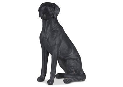 Statuette de chien assis Maggie