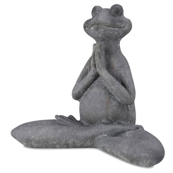 Asana Yoga Frog Prayer Hands Grey