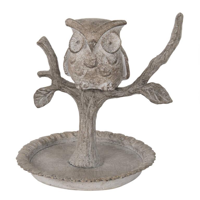 Owl Ring Holder Grey