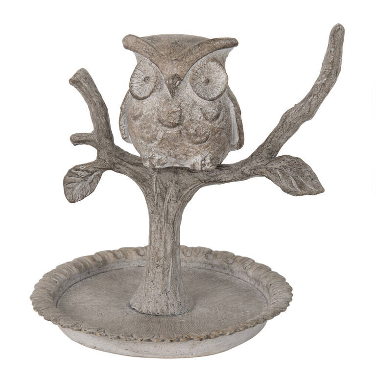 Owl Ring Holder Grey