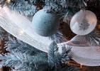 Tulle métallique Kringle blanc irisé