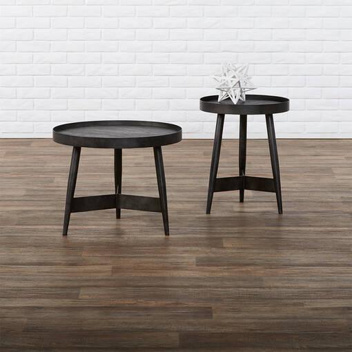 """Gibson Accent Table 22"""" -Espresso Oak"""