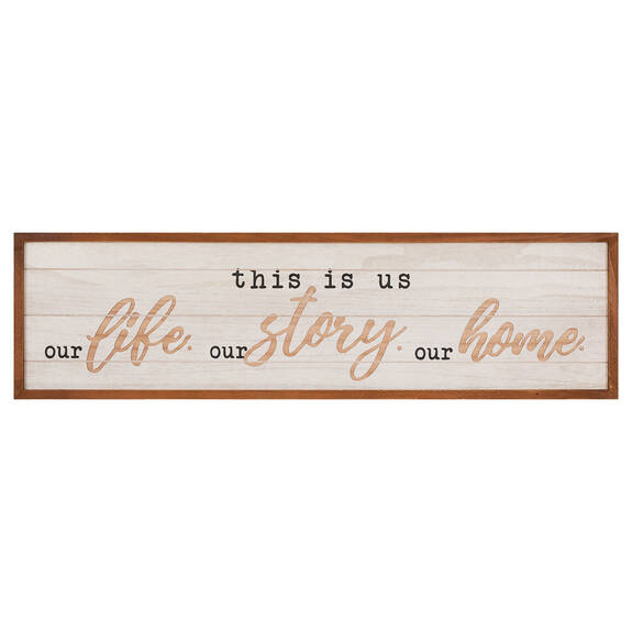 Our Life Wall Plaque
