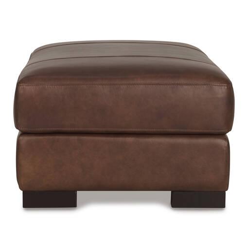 Whistler Leather Storage Ottoman -Coffee