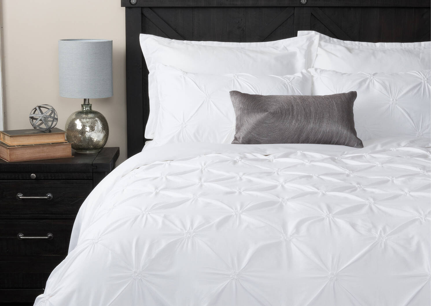 Blanka Duvet Set Queen White