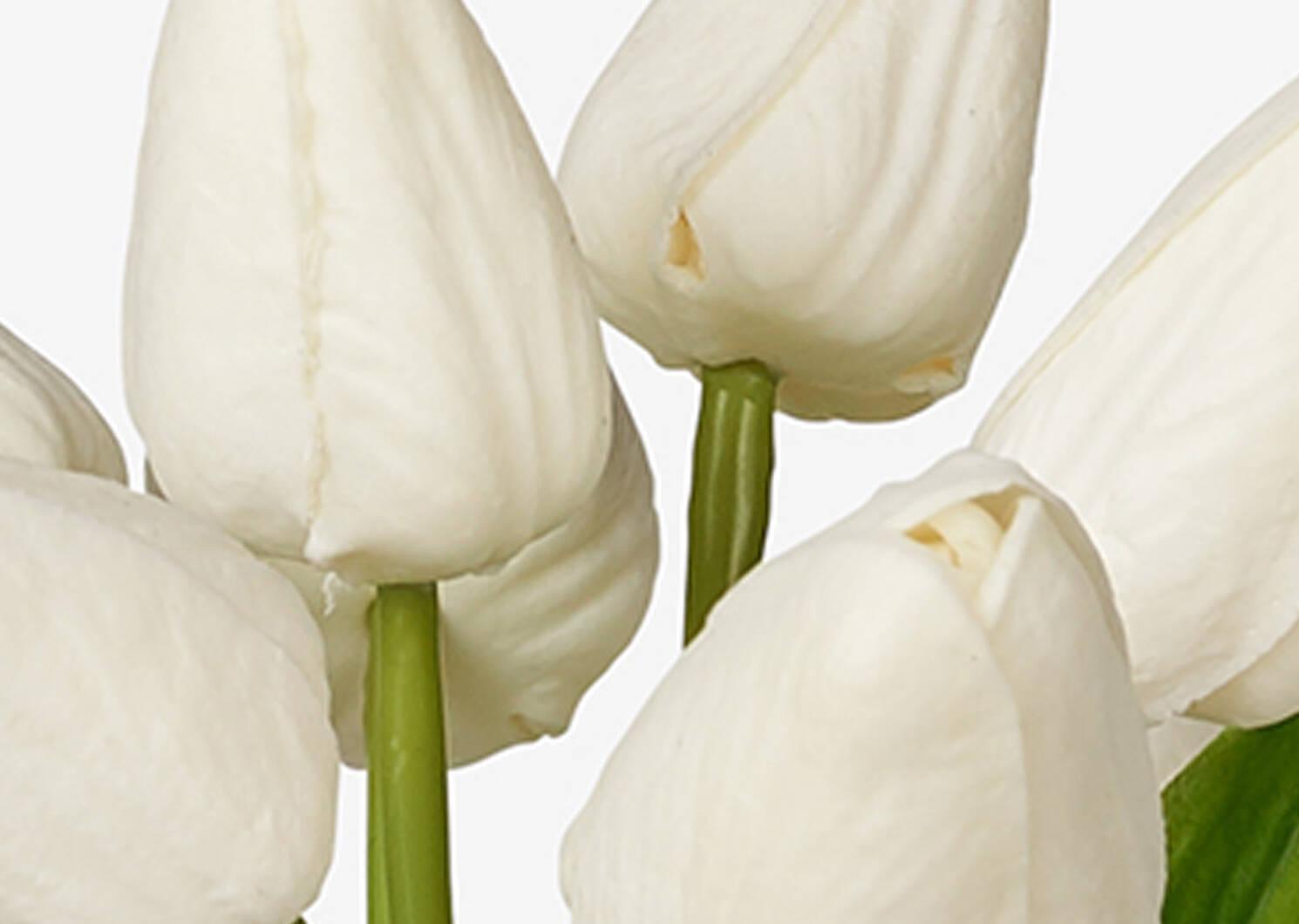 Bouquet de tulipes Berdine blanches