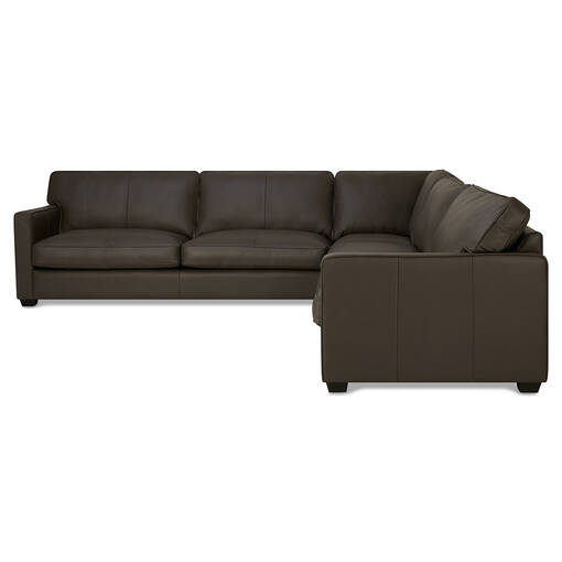 Burke Leather Sectional -Soma Mountain