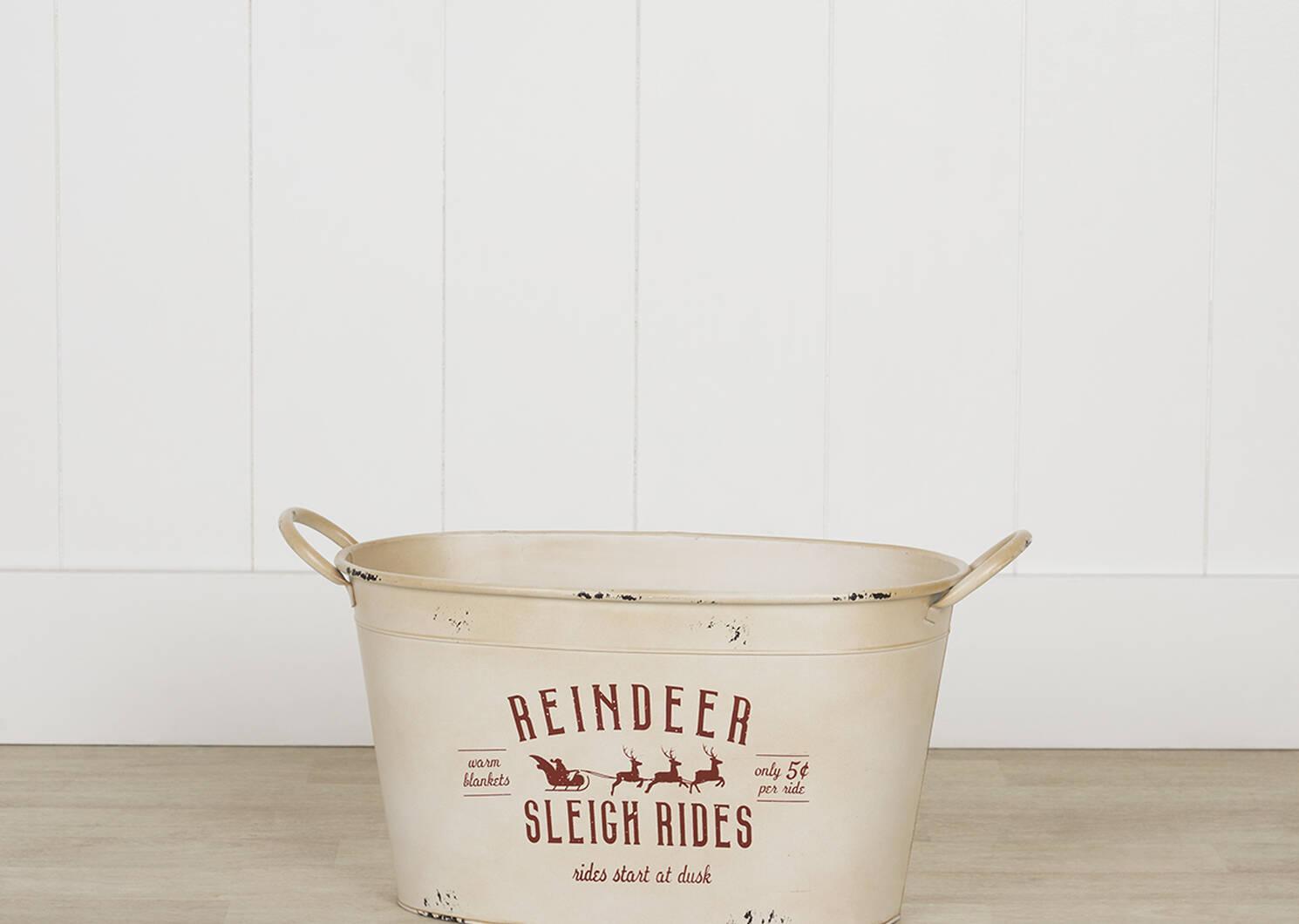 Seaux Reindeer Sleigh Rides -blancs