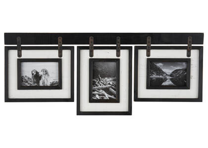 Ashworth Frame 3-4x6 Black/White