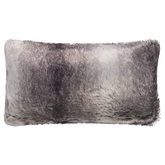 Haven Faux Fur Toss 12x22 Grey Wolf